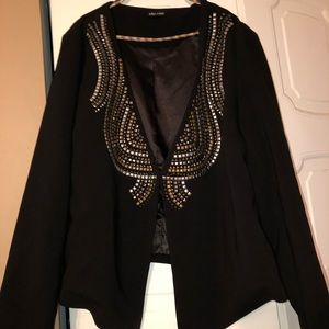 Embellished black blazer